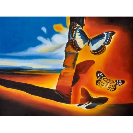 Landscape with Butterflies by Salvador Dali oil painting art gallery