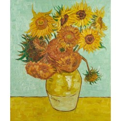 Vase with Twelve Sunflowers by Vincent Willem van Gogh oil painting art gallery