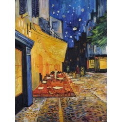 Cafe Terrace At Night, 1888 by Vincent van Gogh - oil painting art gallery