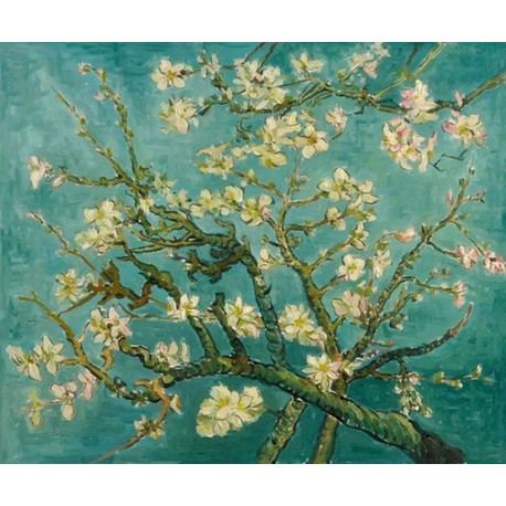 Almond Branches in Bloom, San Remy 1890 by Vincent Willem van Gogh oil painting art gallery