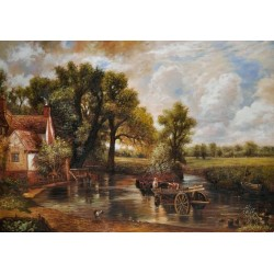 The Haywain by John Constable oil painting art gallery