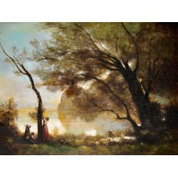 Souvenir of Montefontaine by Camille Corot oil painting art gallery