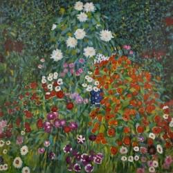 Flowering Shrubs by Gustav Klimt oil painting art gallery