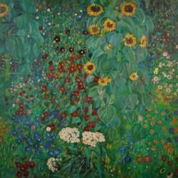 Bauerngarten mit Sonnenblumen by Gustav Klimt oil painting art gallery