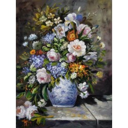 Vase of Flowers by Pierre-Auguste Renoir oil painting art gallery