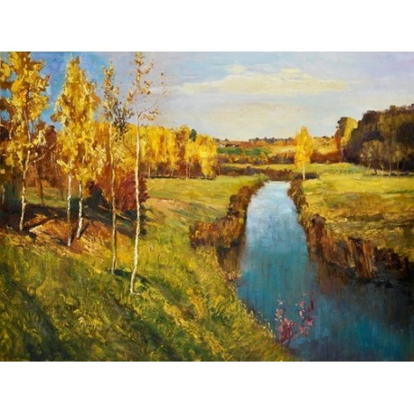 Golden Autumn 1895 by Isaak Levitan oil painting art gallery