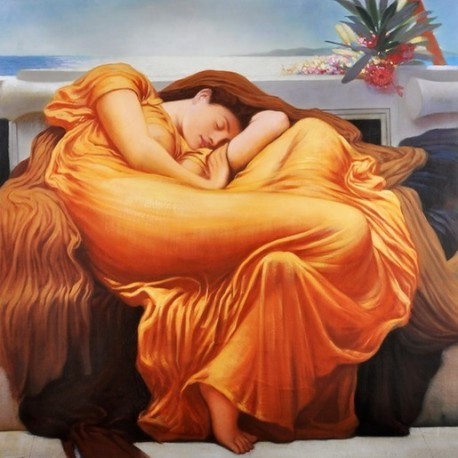 Flaming June by Frederic Leighton oil painting art gallery