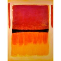 Black center by Mark Rothko oil painting art gallery