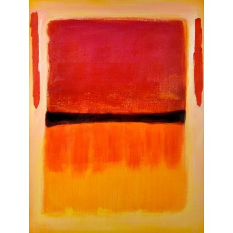 Black center by Mark Rothko oil painting art gallery