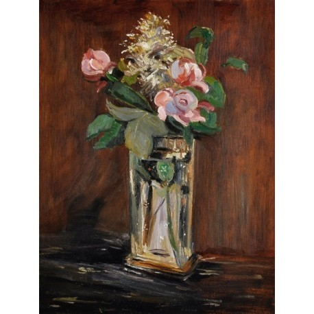 Flowers in a Crystal Vase by Edouard Manet oil painting art gallery