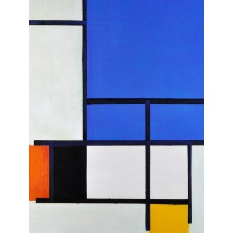 Composition with Red, Yellow and Grey by Piet Cornelies Mondrian oil painting art gallery