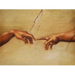 The Creation of Adam by Michelangelo Buonarroti oil painting art gallery