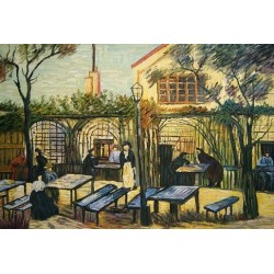 Terrace of the Cafe La Guinguuette by Vincent Van Gogh - Art gallery oil painting reproductions