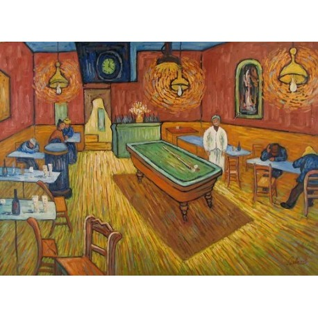 The All Night Cafe 1888 By Vincent Van Gogh Art Gallery Oil Painting Reproductions