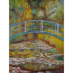 Japanese Bridge by Claude Monet - oil painting art gallery