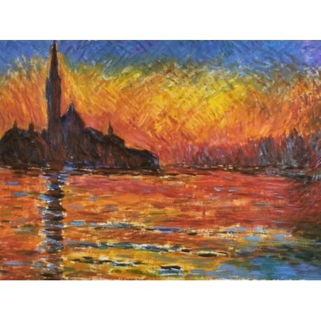 Saint Georges Majeur Au Puscule by Claude Monet - oil painting art gallery