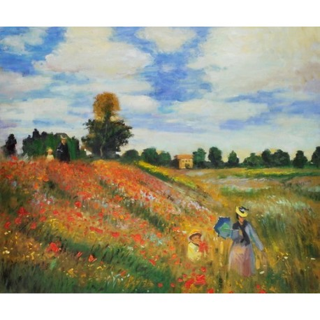 Poppies Blooming, 1873 by Claude Monet - oil painting art gallery