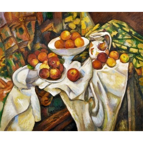 Apples and Oranges by Paul Cezanne - oil painting art gallery