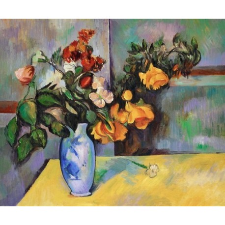 Still Life Flowers In A Vase By Paul Cezanne Oil Painting