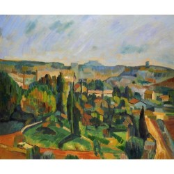 The French Rural Landscape by Paul Cezanne - oil painting art gallery