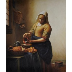 The Milkmaid, circa 1658-60 by Johannes Vermeer -oil painting art gallery