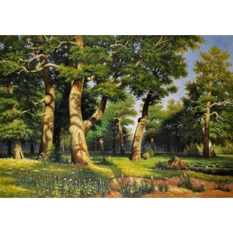 Oak Wood by Ivan Ivanovich Shishkin - oil painting art gallery