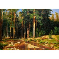 The Mast Tree Grove by Ivan Ivanovich Shishkin - oil painting art gallery