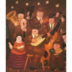 Los Musicos-By Fernando Botero- Art gallery oil painting reproductions