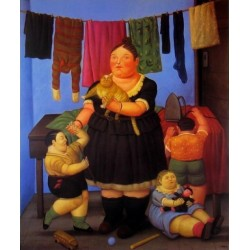 The Widow-By Fernando Botero- Art gallery oil painting reproductions