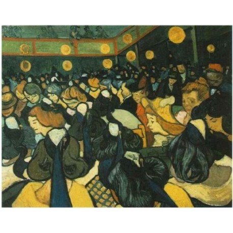 La salle de danse a Arles 1888 by Vincent Van Gogh -Art gallery oil painting reproductions