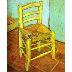 Vincent's Chair with Pipe by Vincent Van Gogh - Art gallery oil painting reproductions