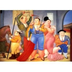 La Corrida By Fernando Botero- Art gallery oil painting reproductions