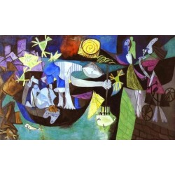 Night Fishing at Antibes by Pablo Picasso oil painting art gallery