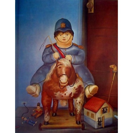 Pedrito, 1975 By Fernando Botero- Art gallery oil painting reproductions