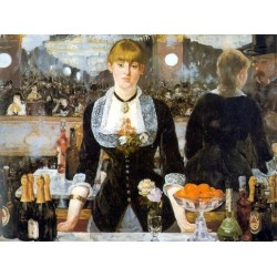 A Bar at the Folies-Bergère 1882 By Edouard Manet - Art gallery oil painting reproductions