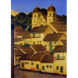 El Pueblo By Fernando Botero - Art gallery oil painting reproductions