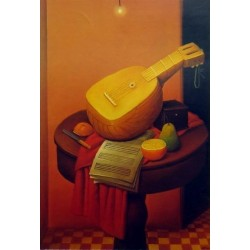 Still Life With Mandolin By Fernando Botero - Art gallery oil painting reproductions