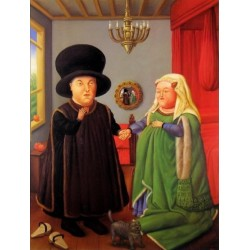 The Arnolfini By Fernando Botero - Art gallery oil painting reproductions