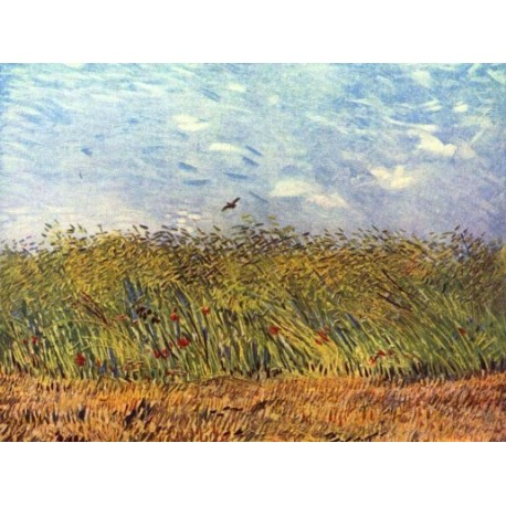 Wheat Field with a Lark by Vincent Van Gogh - Art gallery oil painting reproductions