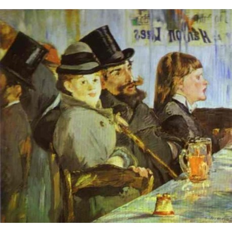 At the Cafe 1878 by Edouard Manet- Art gallery oil painting reproductions