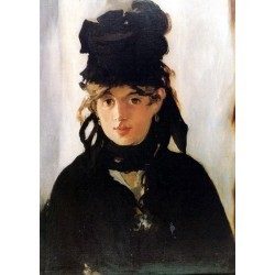 Berthe Morisot by Edouard Manet - Art gallery oil painting reproductions