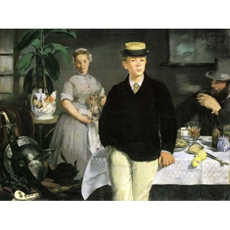 Breakfast in the Studio - The Black Jacket 1868 by Edouard Manet - Art gallery oil painting reproductions
