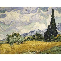 Wheat Field with Cypress by Vincent Van Gogh -Art gallery oil painting reproductions