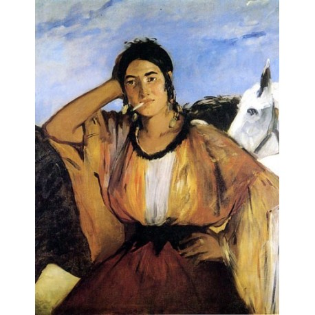 Indian Woman Smoking by Edouard Manet - Art gallery oil painting reproductions