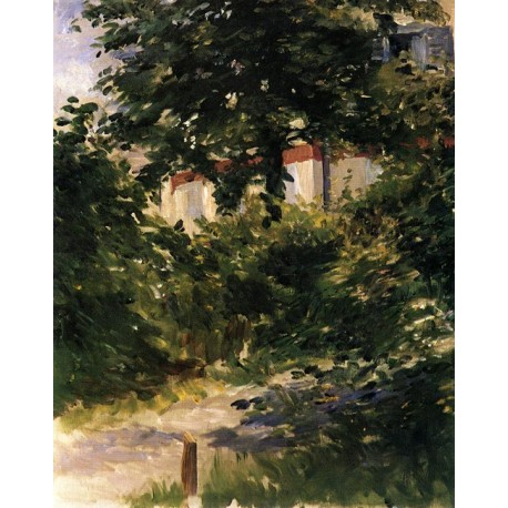 Garden Path in Rueil 1882 by Edouard Manet - Art gallery oil painting reproductions