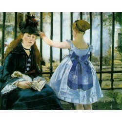 Gare Saint Lazare 1872 by Edouard Manet - Art gallery oil painting reproductions