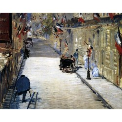 La Rue Mosnier aux Drapeaux By Edouard Manet - Art gallery oil painting reproductions