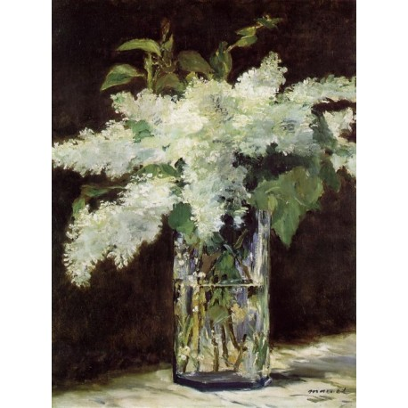 Lilacs in a Vase By Edouard Manet - Art gallery oil painting reproductions