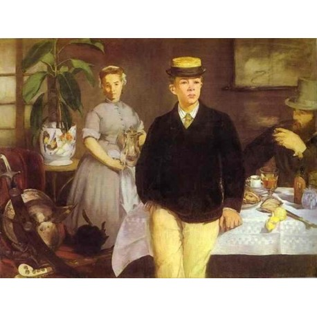 Luncheon in the Studio 1868 By Edouard Manet - Art gallery oil painting reproductions