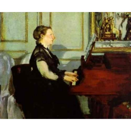 Madame Manet at the Piano 1868 By Edouard Manet - Art gallery oil painting reproductions
